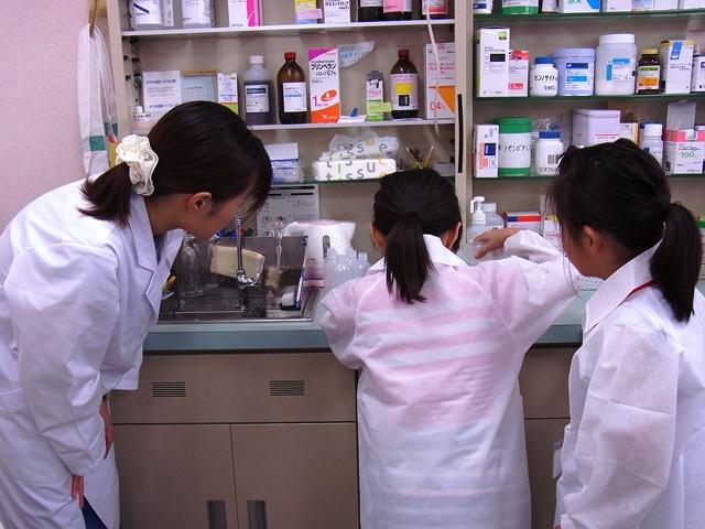 子ども調剤体験を開催しました