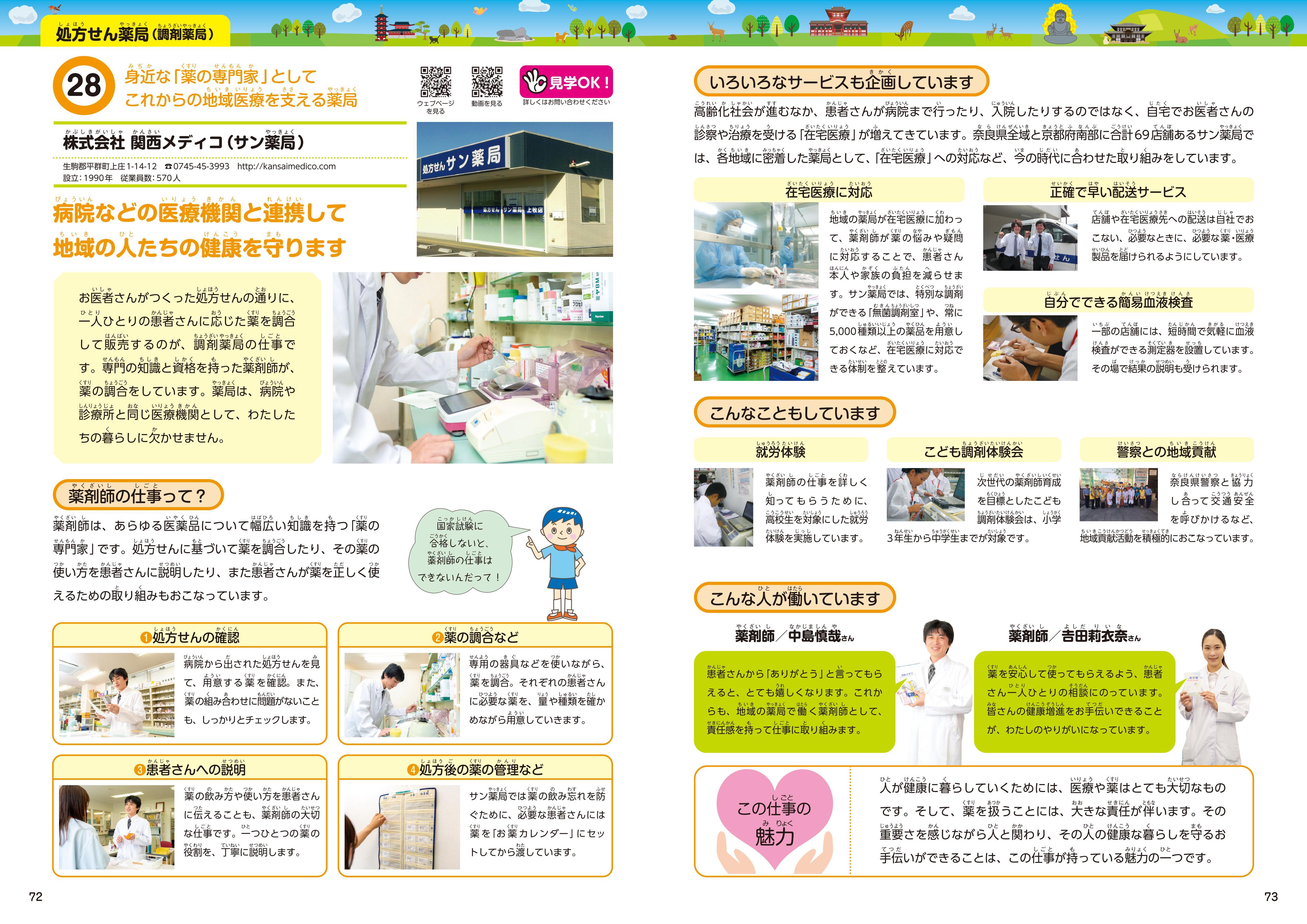 奈良県の学校教材「お仕事本」に掲載されました